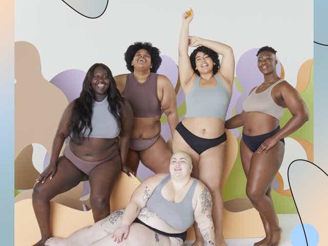 Models wearing underwear.