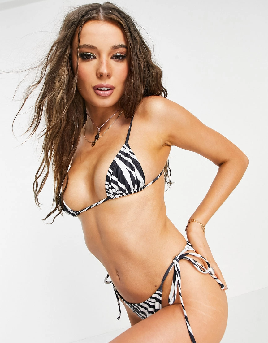 Zebra-Print Bikinis Are Summer's Hottest Swimwear Trend