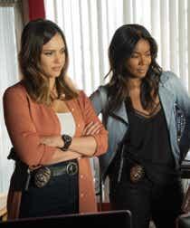 Jessica Alba and Gabrielle Union in LA's Finest.