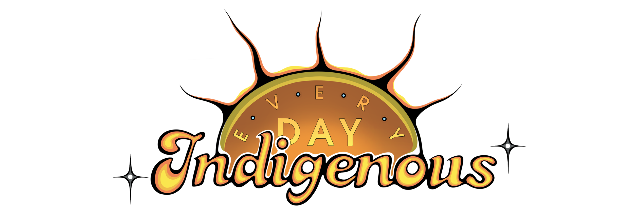Every Day Indigenous logo, rising sun