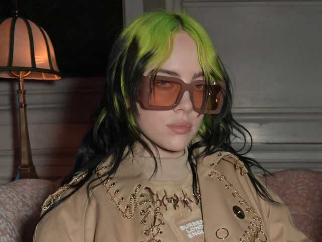 Billie Eilish attends the Universal Music BRIT Awards after-party 2020.