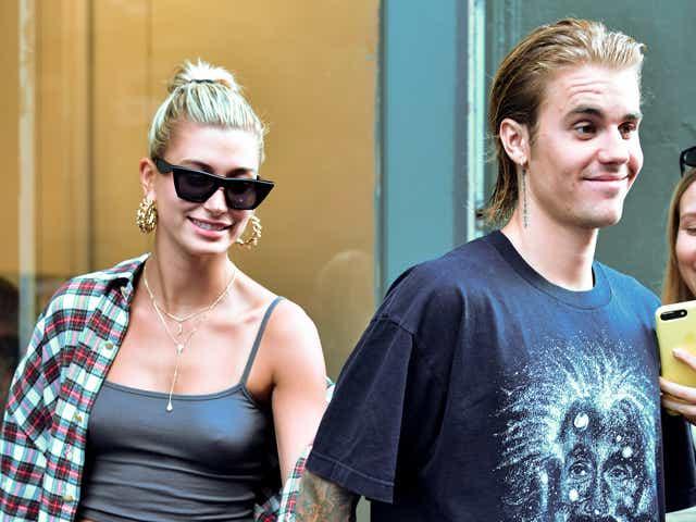 Hailey Baldwin and Justin Bieber visit Cutler hair salon in SoHo.
