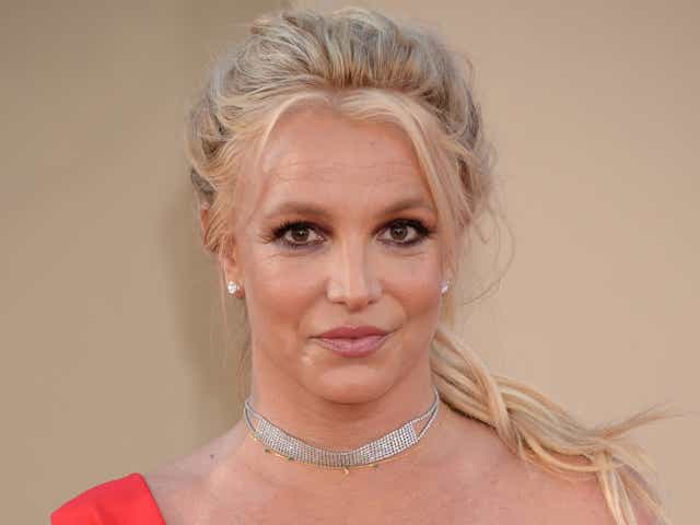 Britney Spears on the red carpet for the Once Upon a Time in Hollywood film premiere.