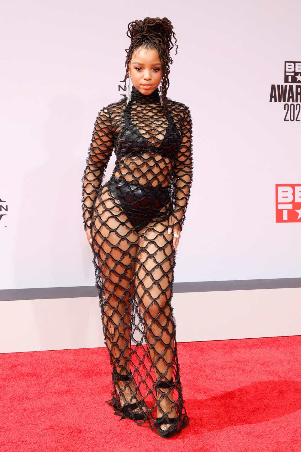 Chloe Bailey attends the BET Awards 2021 at Microsoft Theater