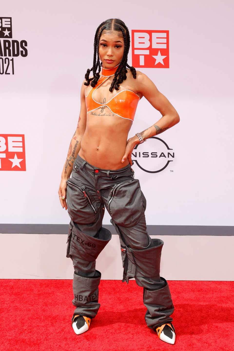 Coi Leray attends the BET Awards 2021 at Microsoft Theater.