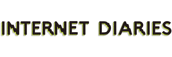 The words Internet Diaries written in an electronic looking font