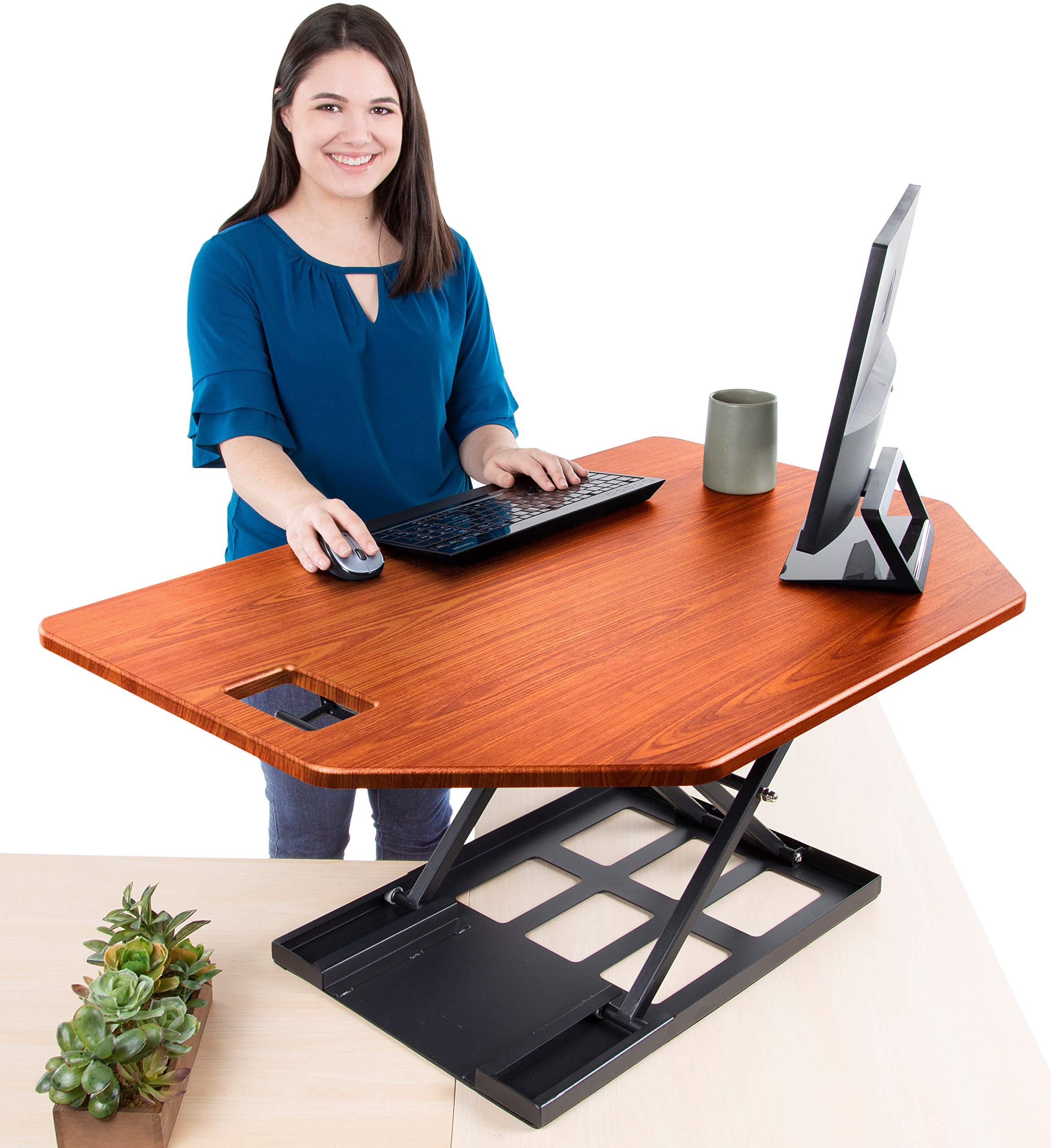 Best Standing Desk Converter To Help, Best Sit Stand Desk Converter For Tall Person