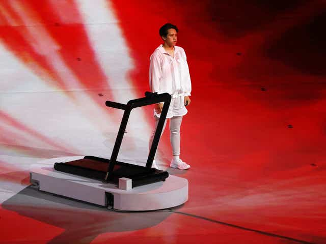 TOKYO, JAPAN - JULY 23: Performers are seen during the Opening Ceremony of the Tokyo 2020 Olympic Games at Olympic Stadium on July 23, 2021 in Tokyo, Japan. (Photo by Ian MacNicol/Getty Images)