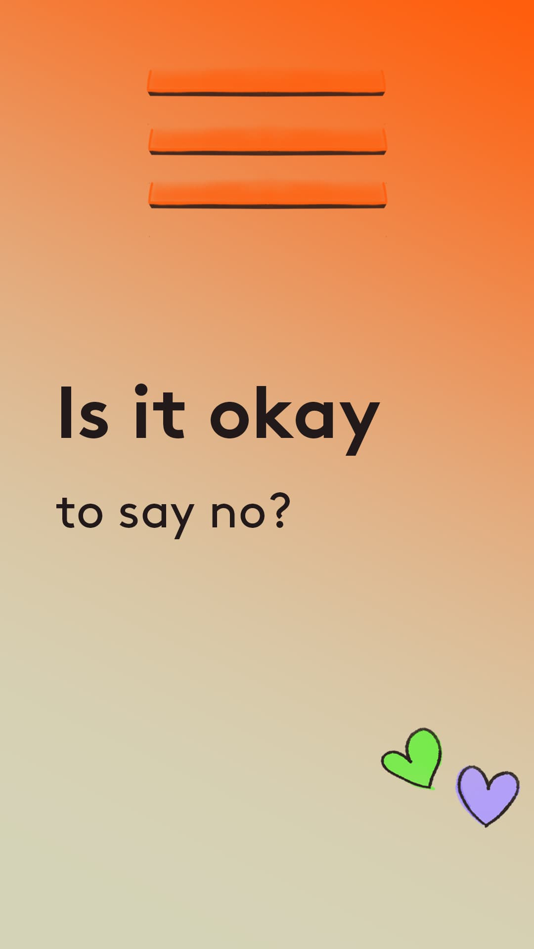Is it okay to say no?