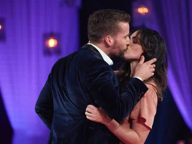Connor B kisses a stranger on The Bachelorette Men Tell All.