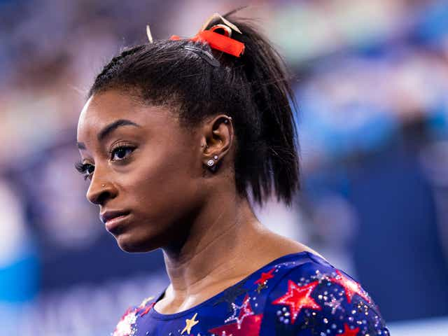 Simone Biles , compete on day two during the qualification of the women in gymnastics at the Olympic Games.