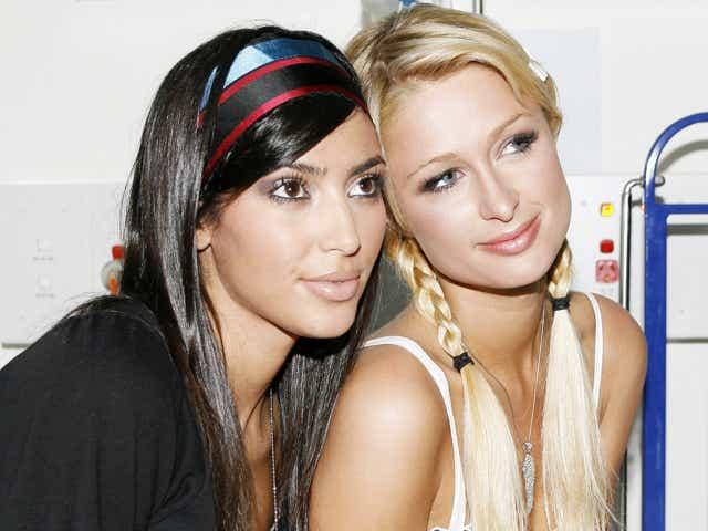 Kim Kardashian and Paris Hilton at the St Leonards in Sydney, Australia. (Photo by John Stanton/WireImage)