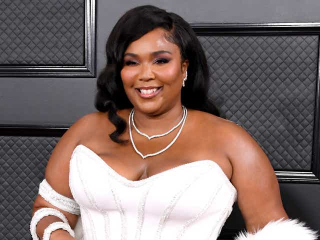 Lizzo attends the 62nd Annual GRAMMY Awards.