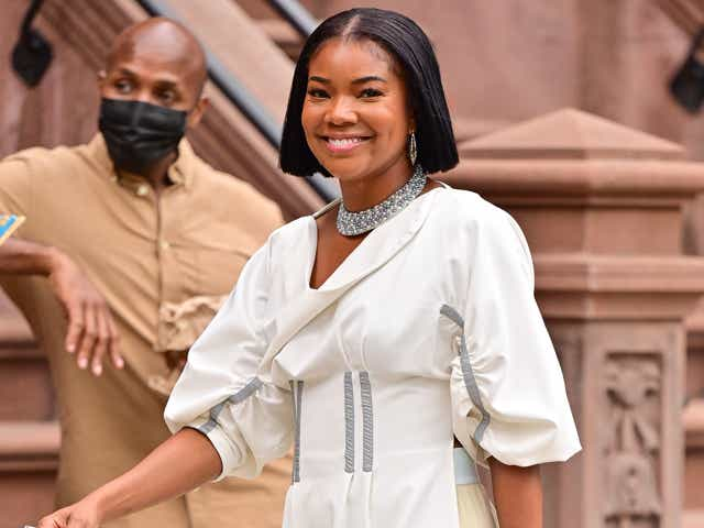 """Gabrielle Union seen on the set of """"The Perfect Find"""" in Harlem."""