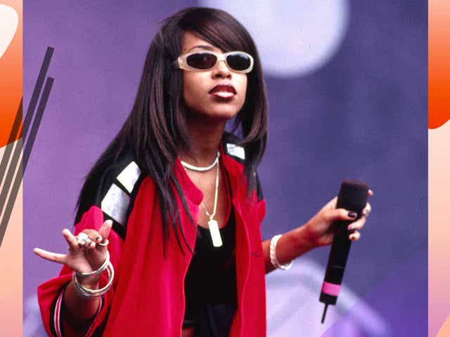 Aaliyah during Aaliyah In Concert in Irvine, California, United States.