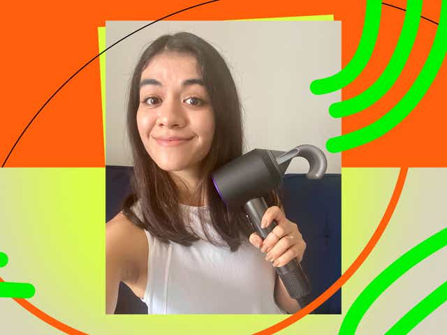 Karina with new Dyson Dryer
