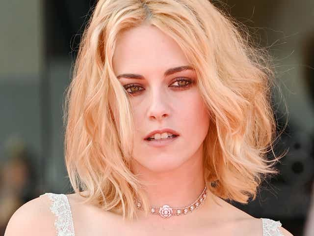 """Kristen Stewart attends the red carpet of the movie """"Spencer"""" during the 78th Venice International Film Festival"""