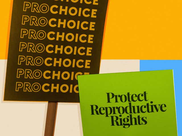 An image of pro-choice protest signs