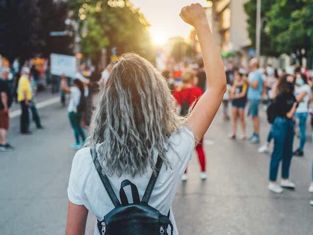 Activist at a Protest