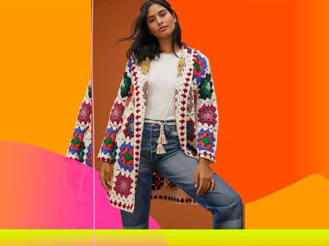 anthropologie Cozy Crochet Cardigan