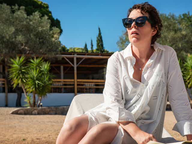 Film still of Olivia Colman in The Lost Daughter