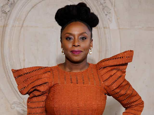 Chimamanda Ngozi Adichie attends the Dior Haute Couture Spring/Summer 2020.