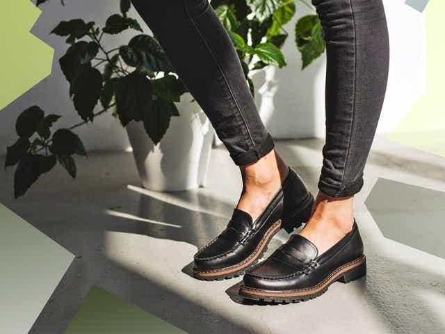 black GOR loafers
