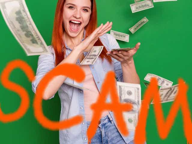 Woman tossing Money