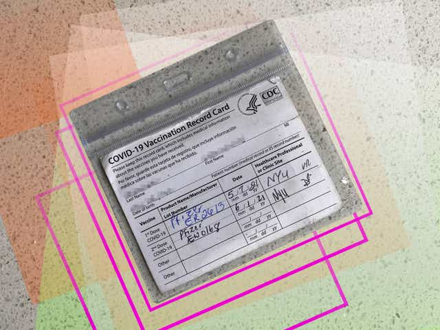 vaccine card in protective case