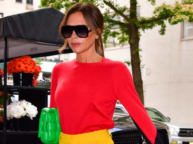 Victoria Beckham is seen on streets of the Upper East Side on October 12, 2021 in New York City.