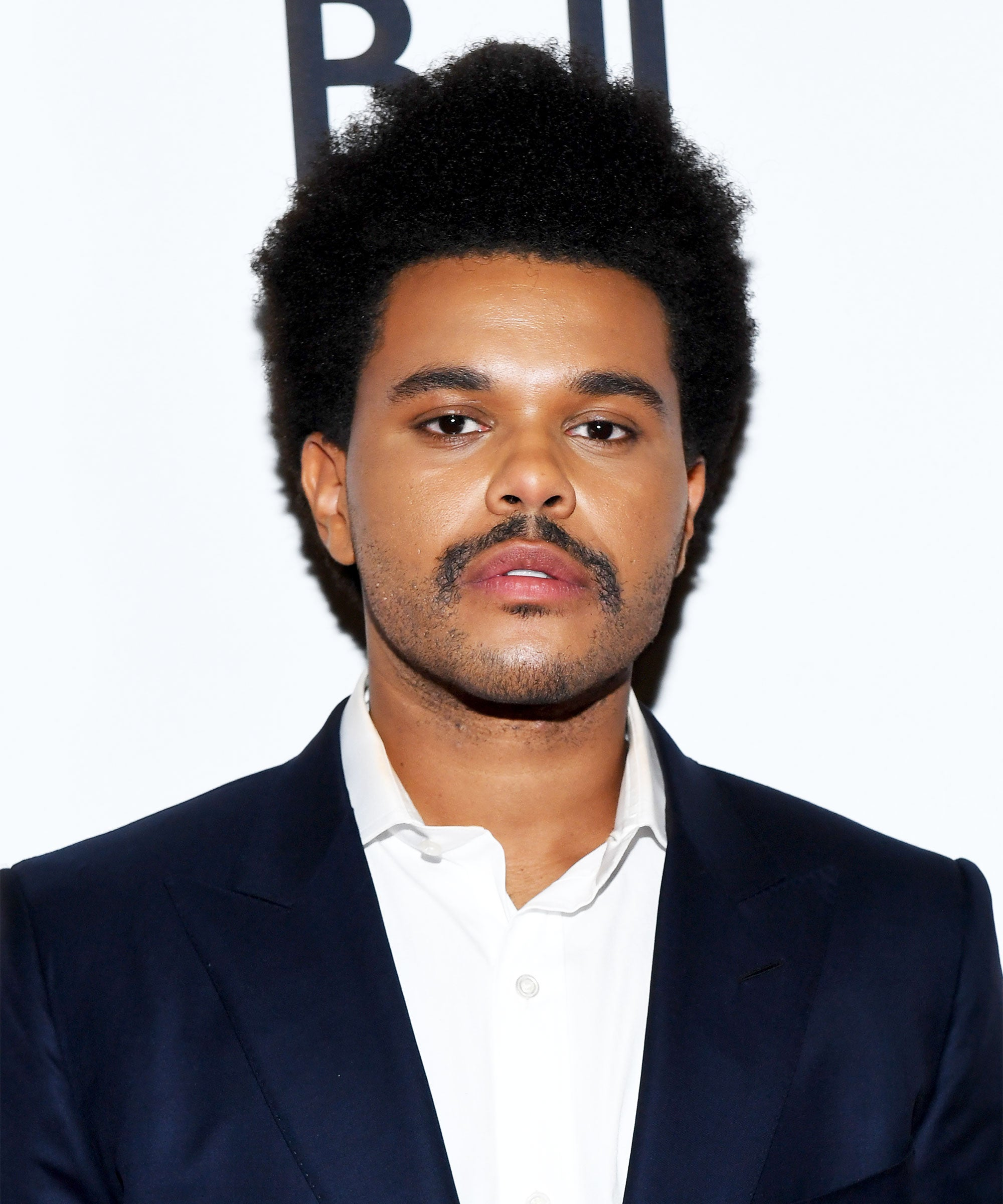 The Weeknd Reveals New Afro Hair And Mustache At Tiff