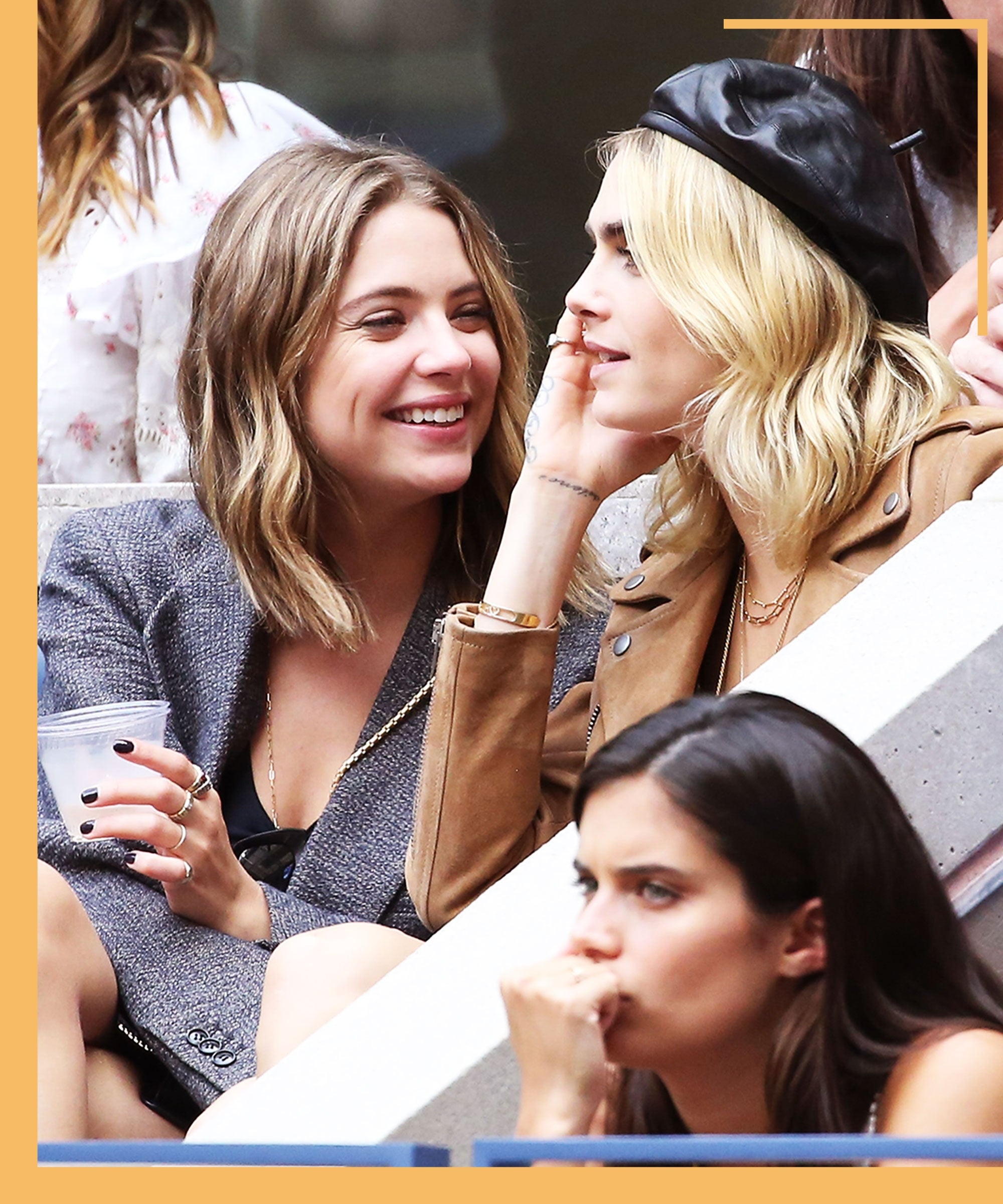 Cara Delevingne & Ashley Benson Turned The US Open Into A Date Night