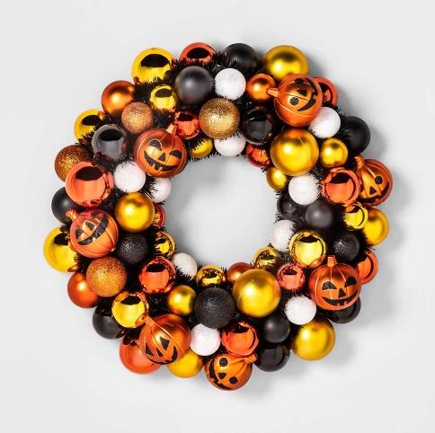 Halloween Jack O Lantern Decorative Wreath