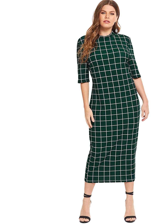 Floerns Plus-Size Bodycon Pencil Dress