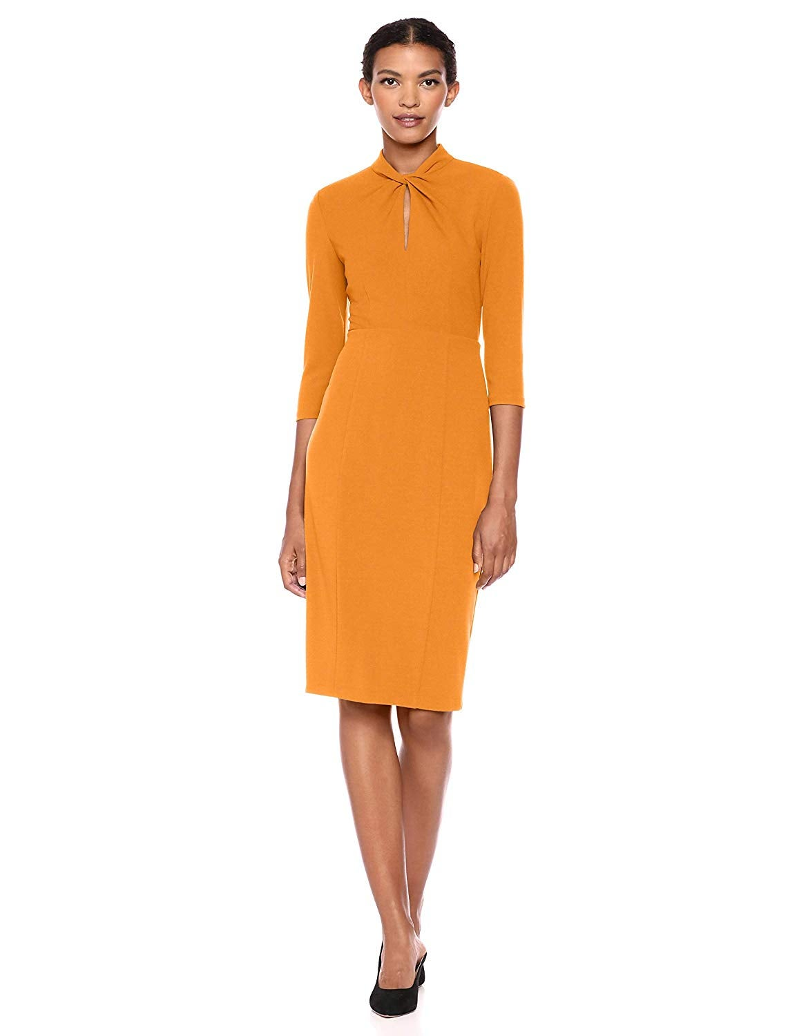 Donna Morgan Knotted Crepe Sheath Dress