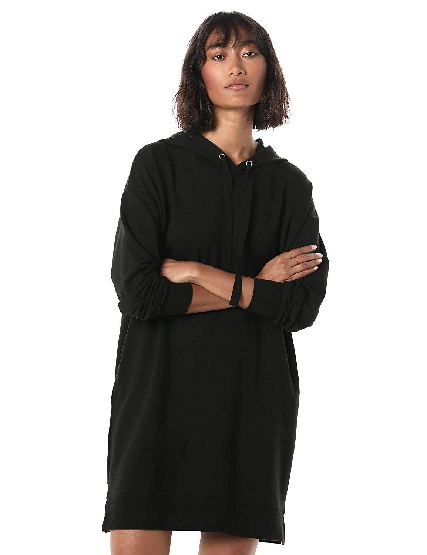 The Drop Long Sleeve Hooded Mini Sweatshirt Dress
