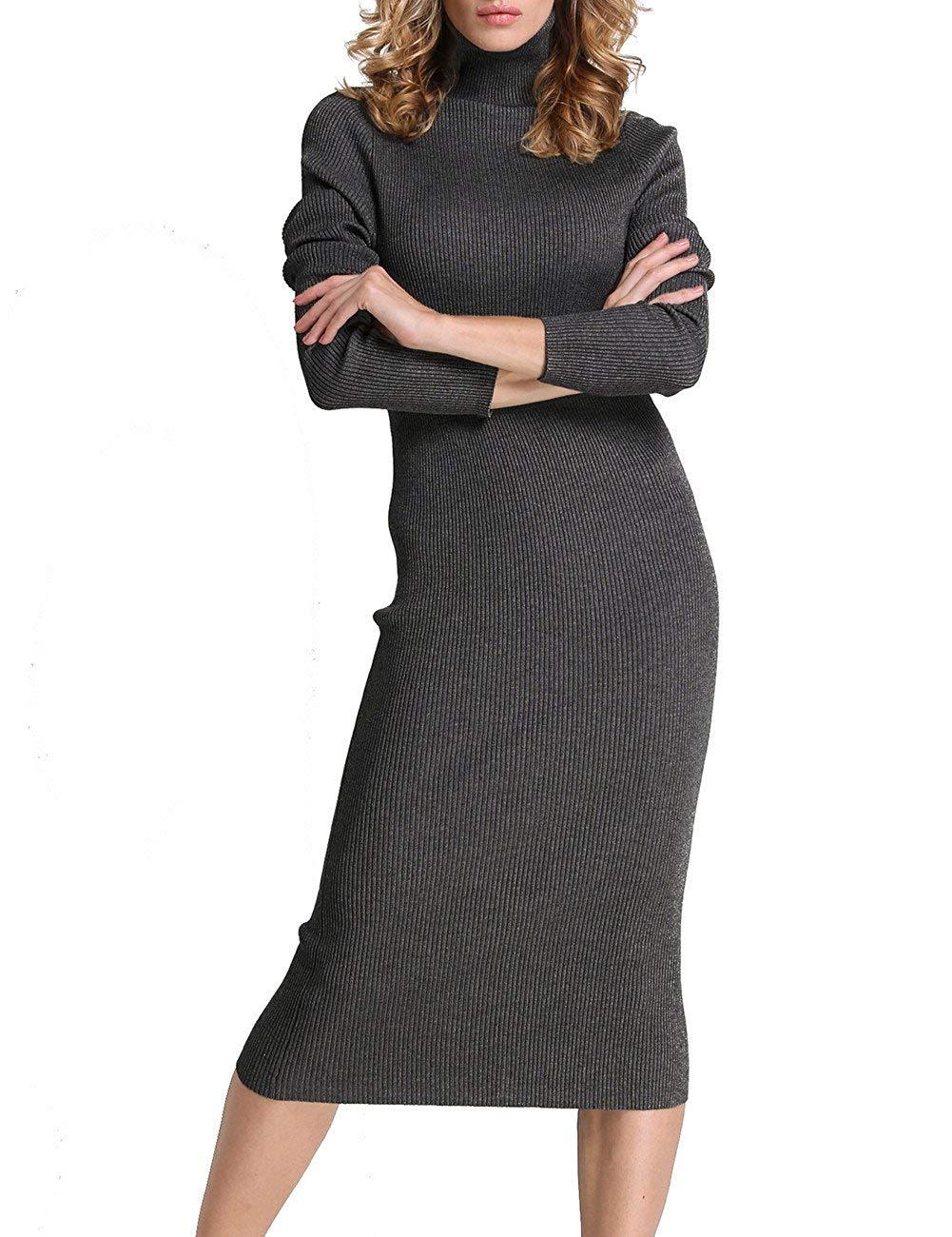 Rocorose Ribbed Knit Long Sleeve Dress