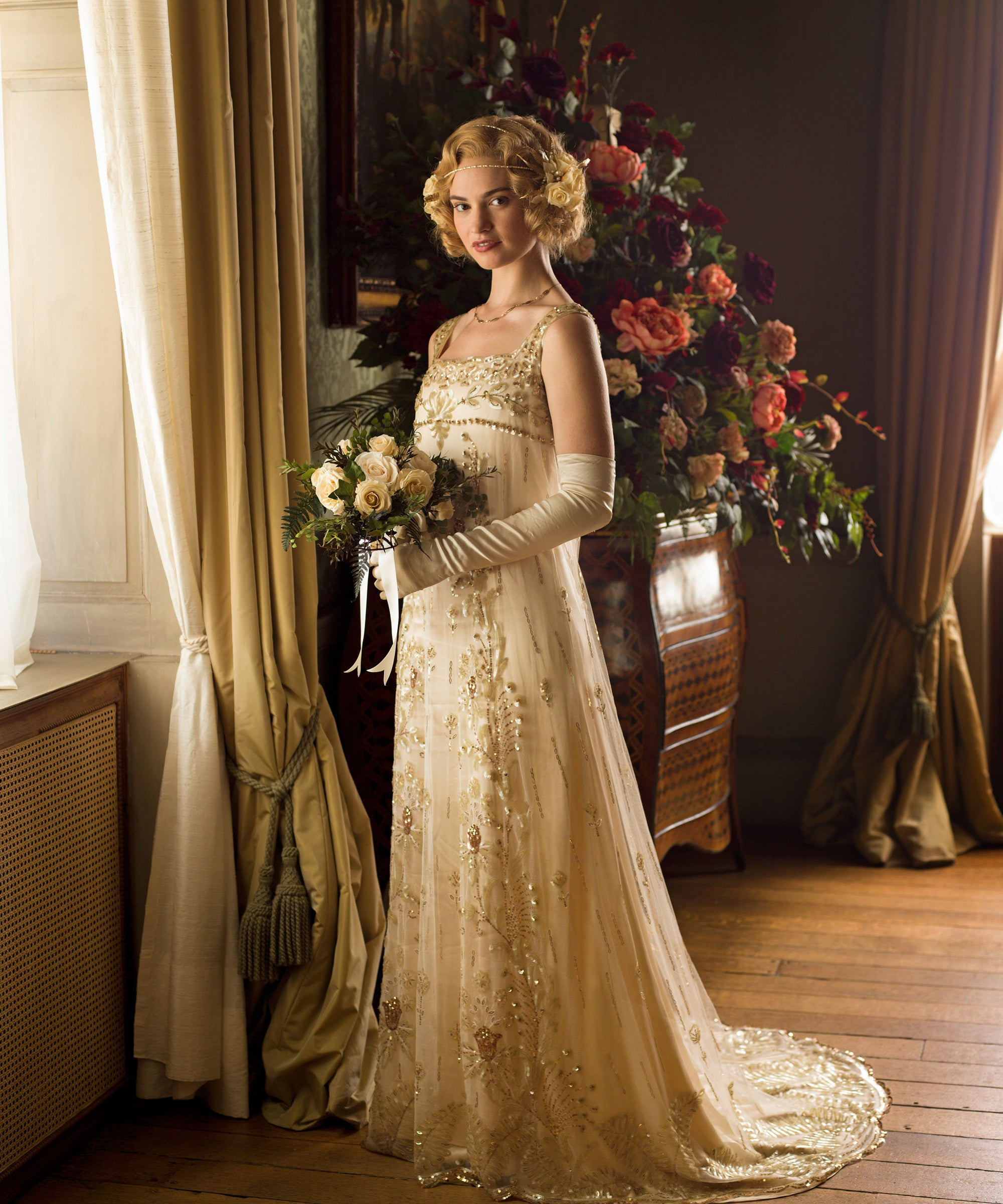 The Reason Isn't Lily James In The Downton Abbey Movie Is Understandable, We Guess