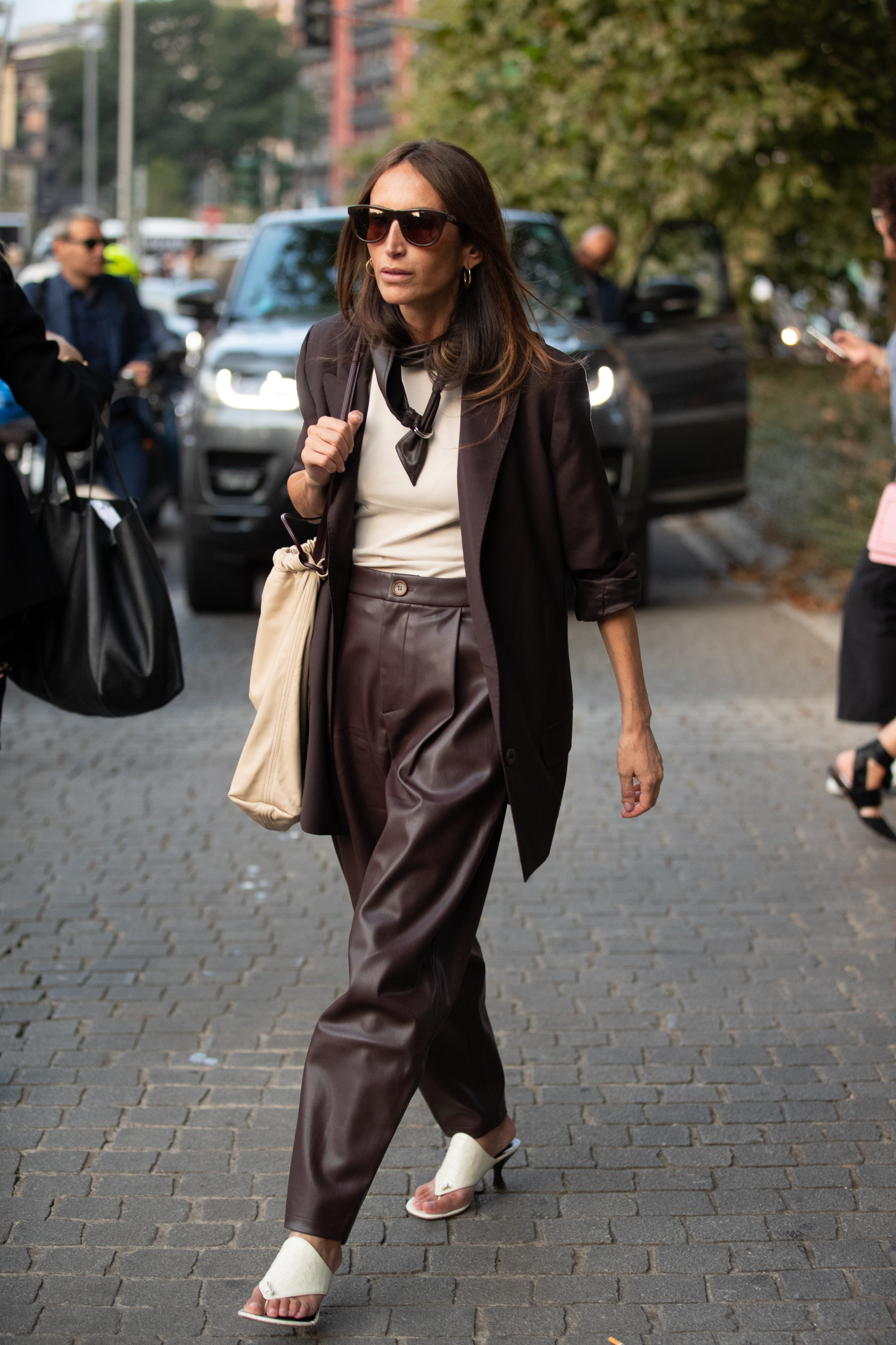 The 4 Top Milan Street Style Trends, From Leather To Mixed Prints