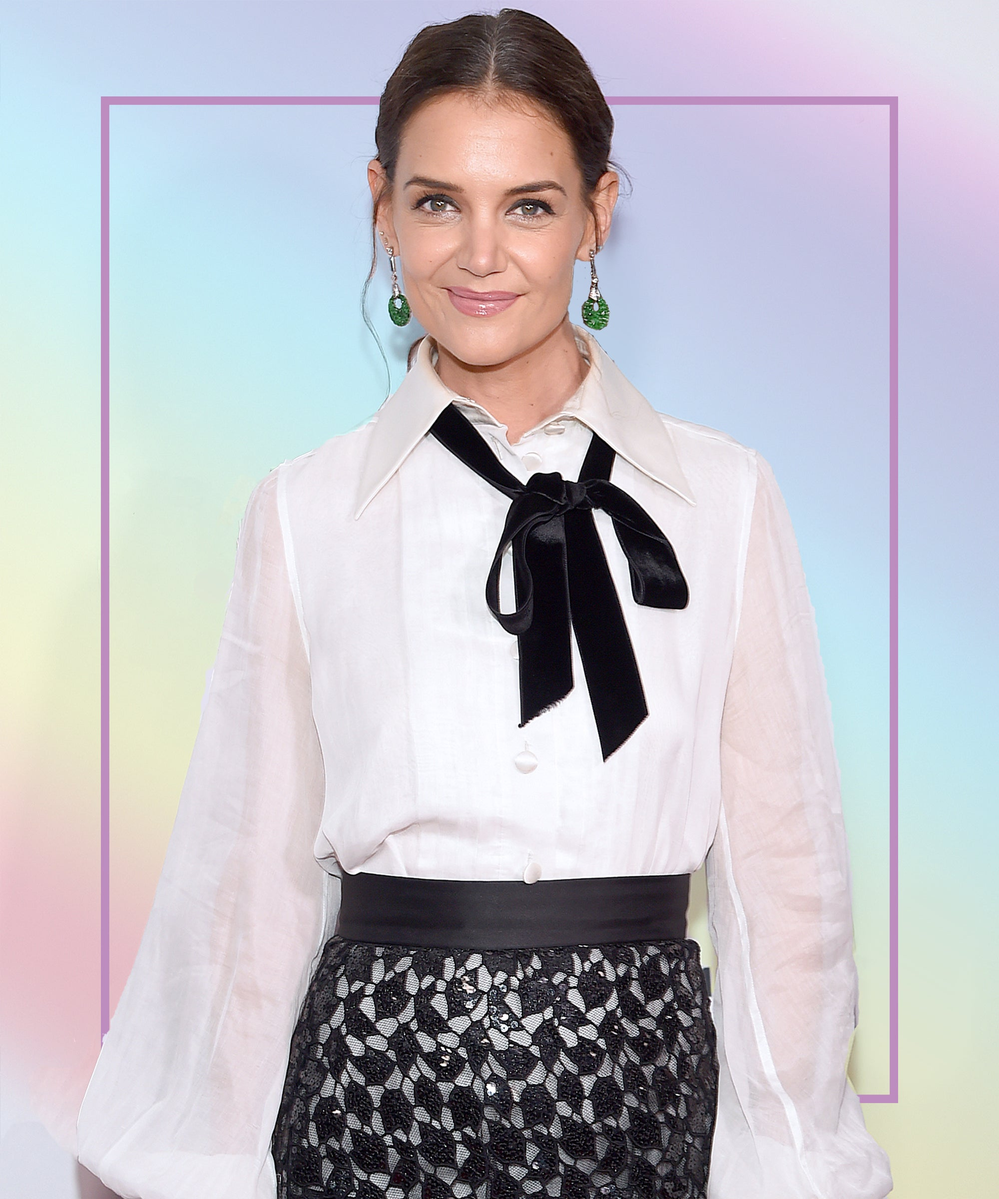 Katie Holmes' New Red Carpet Hair Look Is Soft Yet Edgy — & Right On Trend