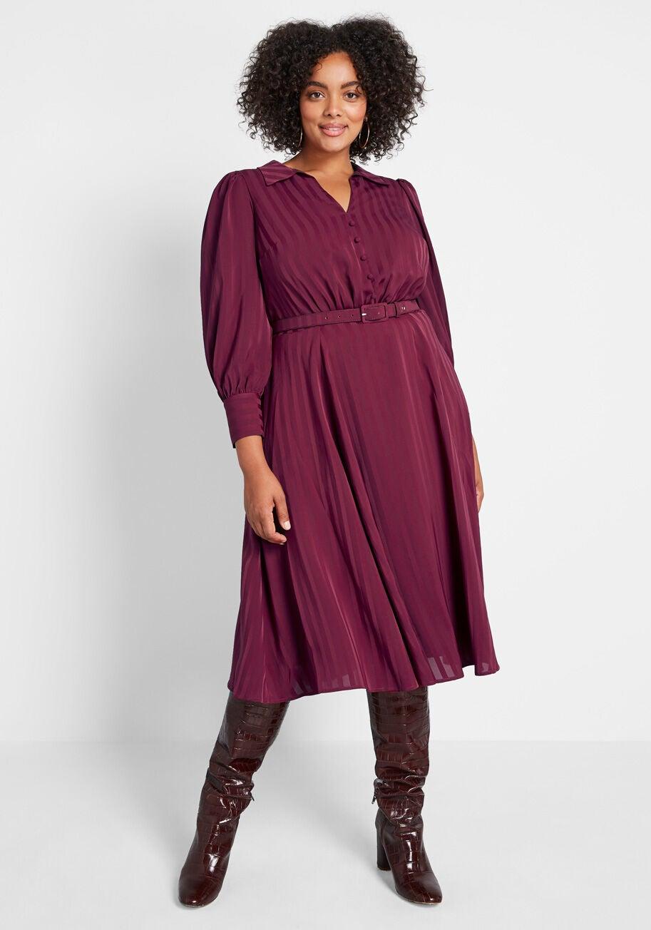 Classy Announcement A-Line Dress