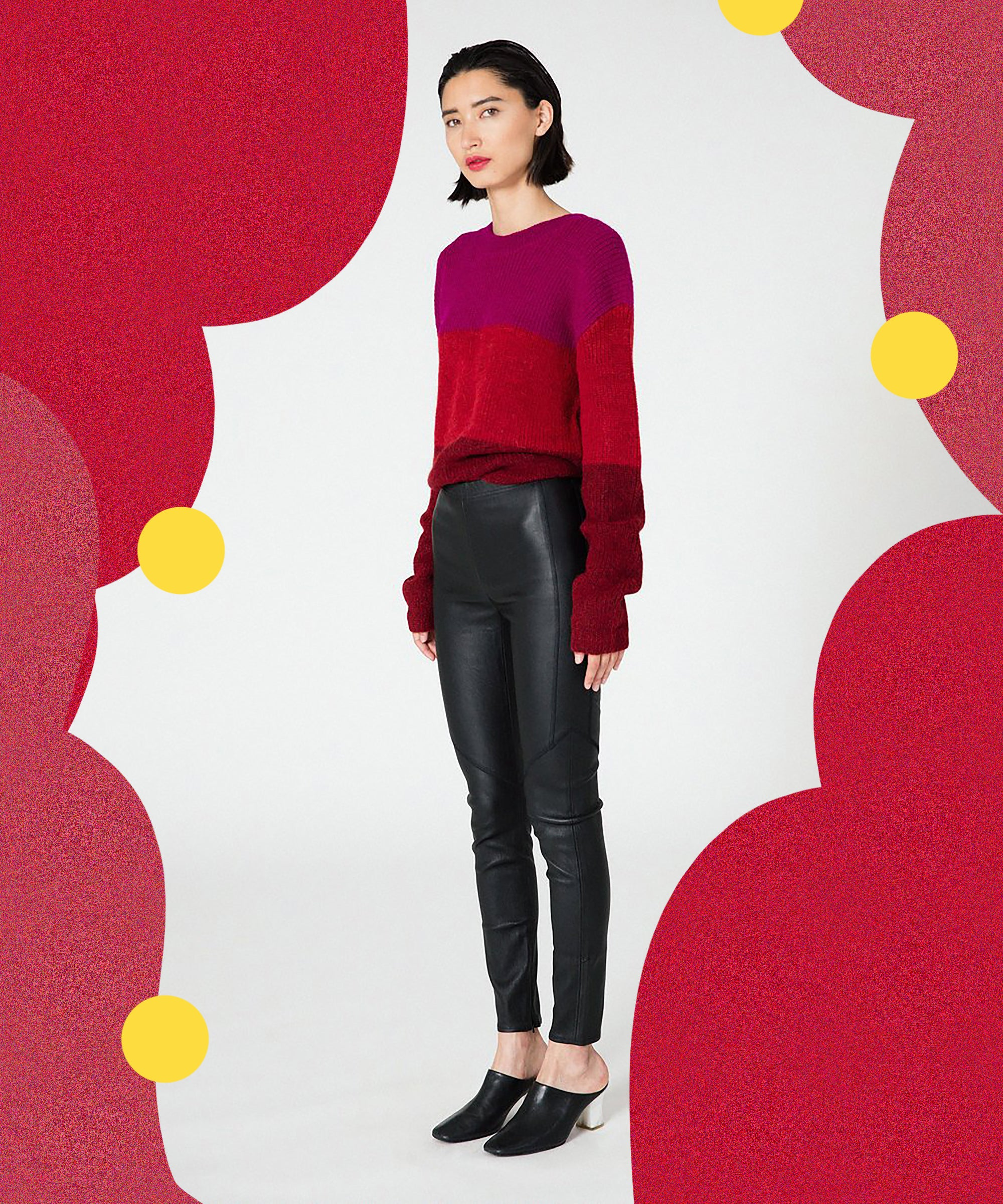 When The Comfort Of Leggings Meets The Elegance Of Leather, Everyone Wins
