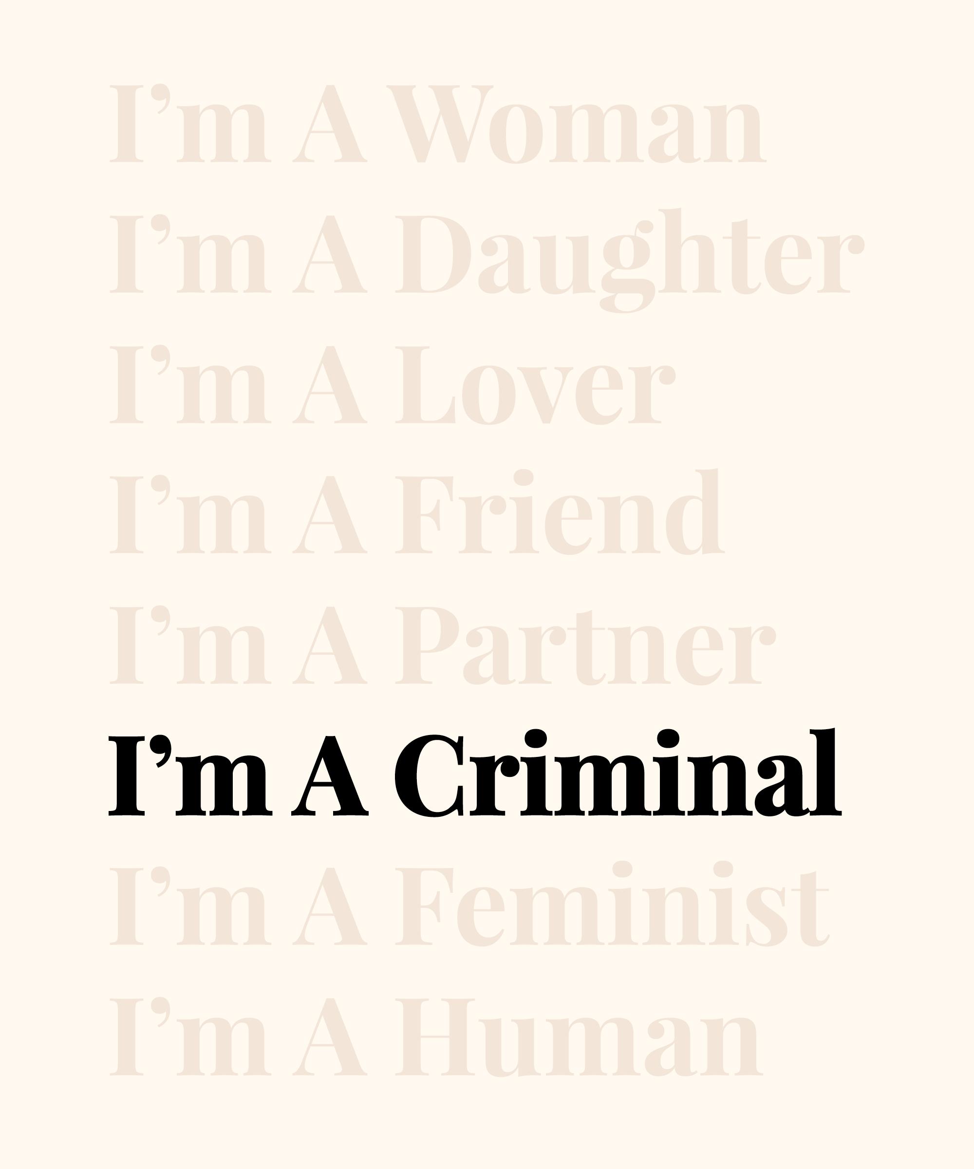 I'm A Criminal - cover