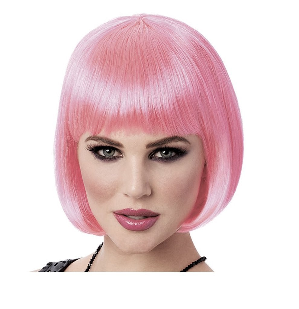A Labs Short Pink Bob Wig