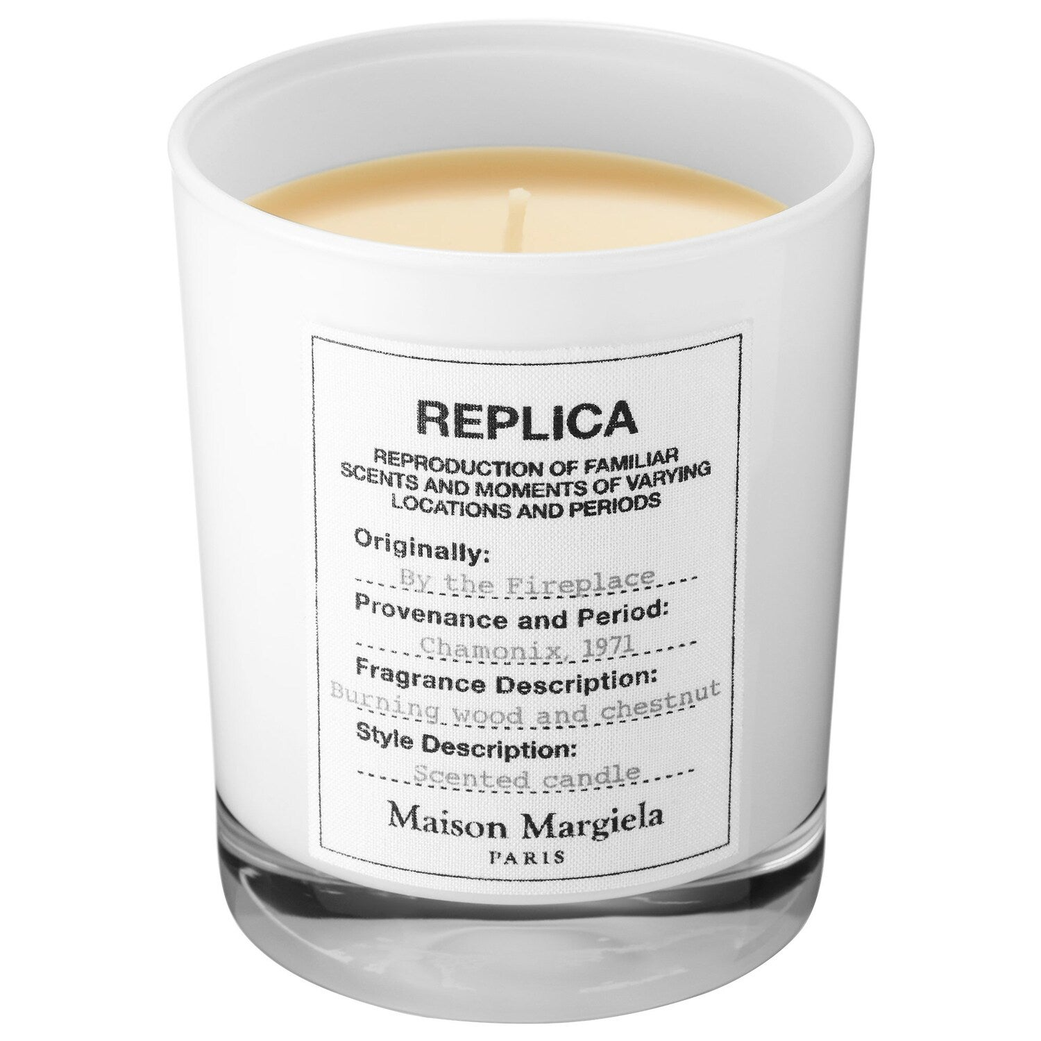 'REPLICA' By The Fireplace Candle