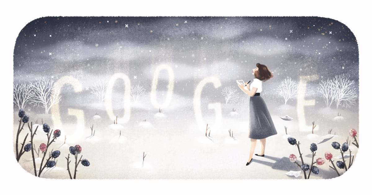 Google Doodle Pays Tribute To Sylvia Plath On Her 87th Birthday