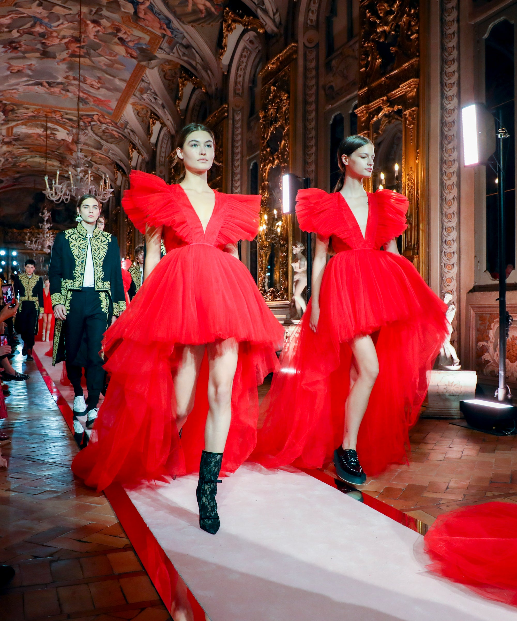 What Sofia Carson & Halima Aden Are Shopping From The Giambattista Valli x H&M Collection