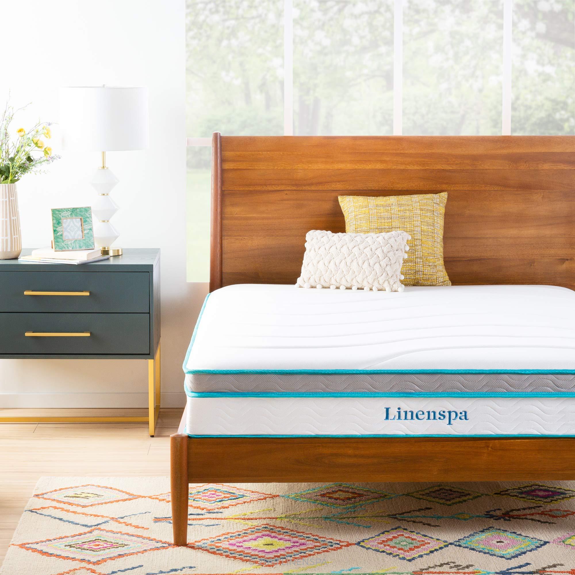 Linenspa + Memory Foam and Innerspring Hybrid Mattress