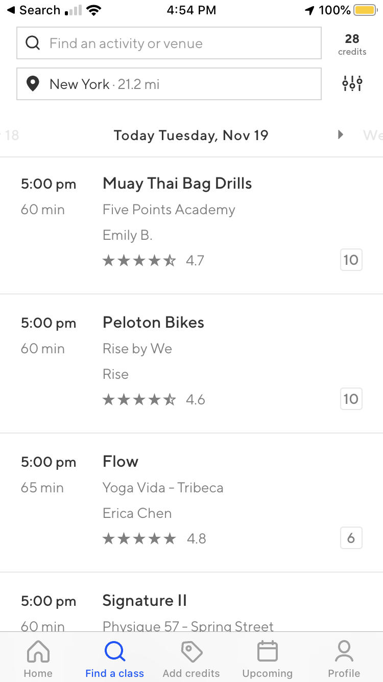 Best Fitness Classes Classpass Under 700