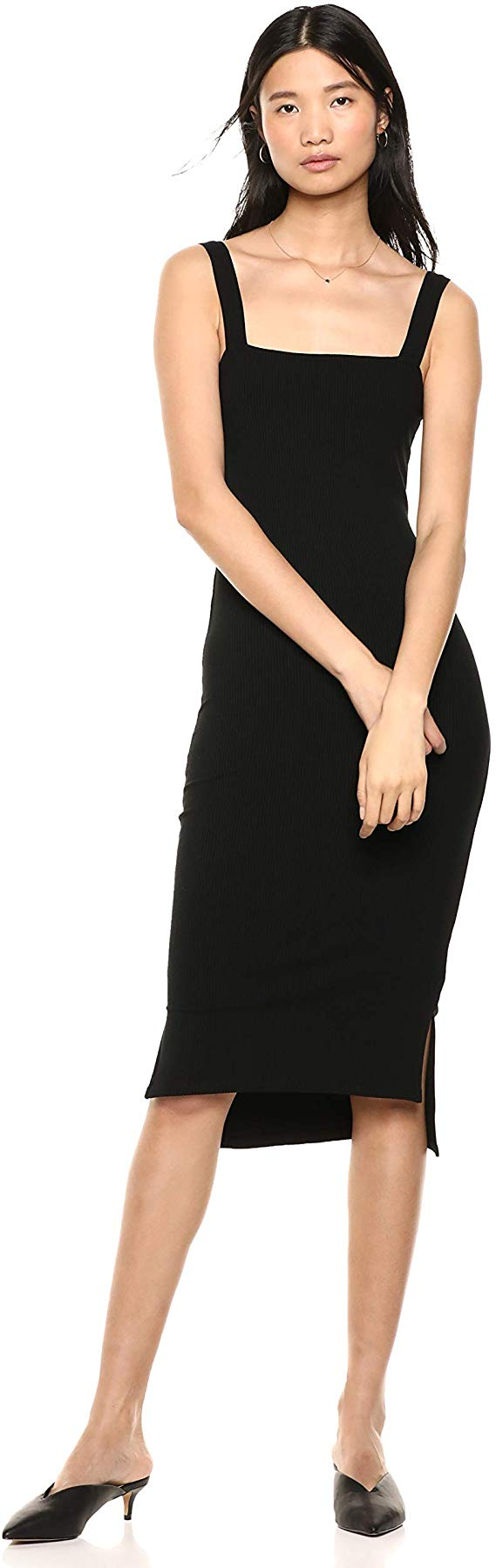 The Drop Square Neck Midi Dress